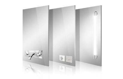 Fixture Cutouts Integrate fixtures into your glass or mirror.