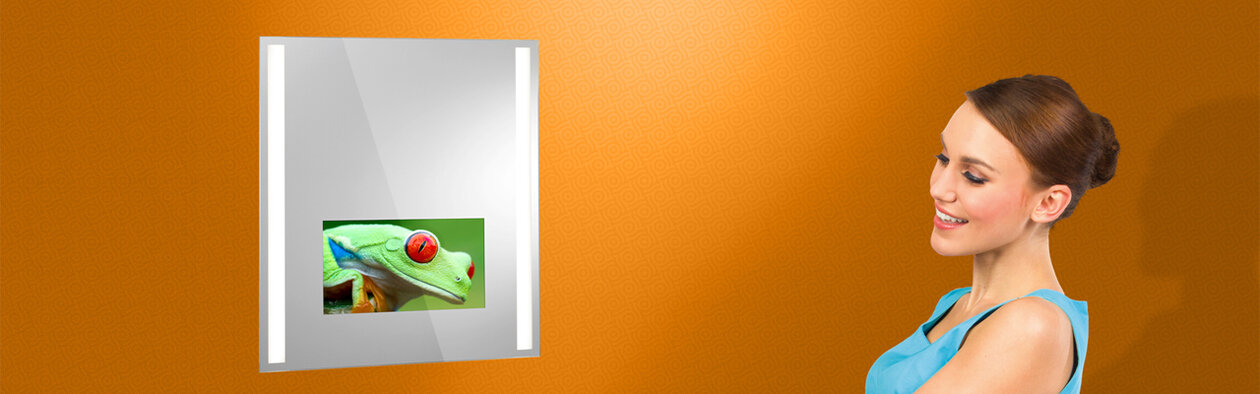 Lighted Mirror TV Insert. Design your own